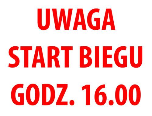 UWAGA!!! Zmiana godziny STARTU Biegu Walentynkowego!!!GODZINA 16.00 !!!